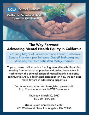 The Way Forward Advancing Mental Health Equity In California